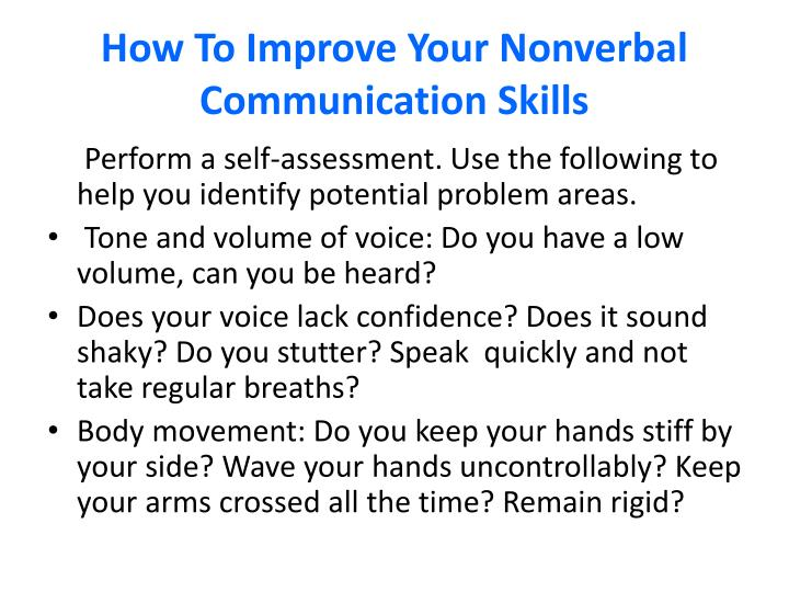 How to improve your nonverbal communication skills