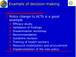 example of decision making