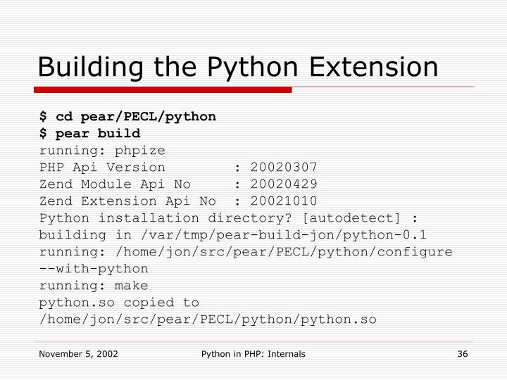 Building the Python Extension