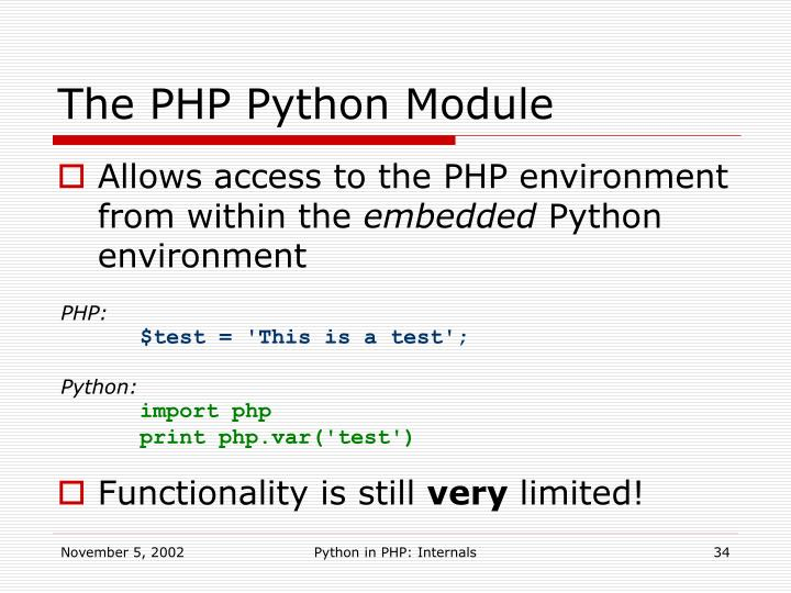 The PHP Python Module