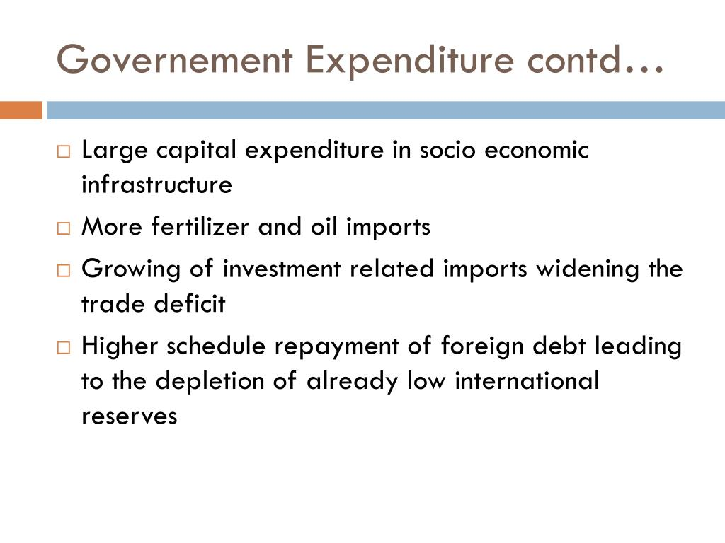 Governement Expenditure contd…