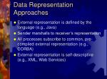 data representation approaches