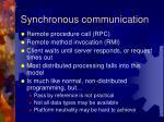 synchronous communication1