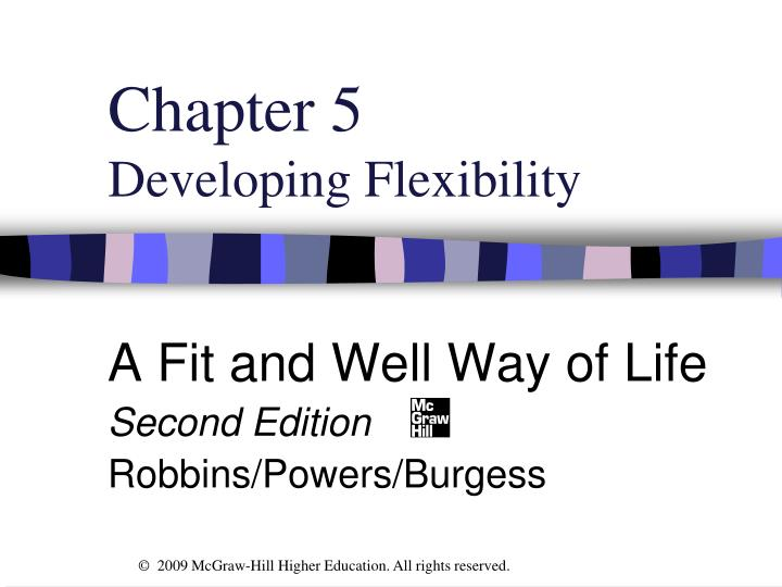 chapter 5 developing flexibility n.