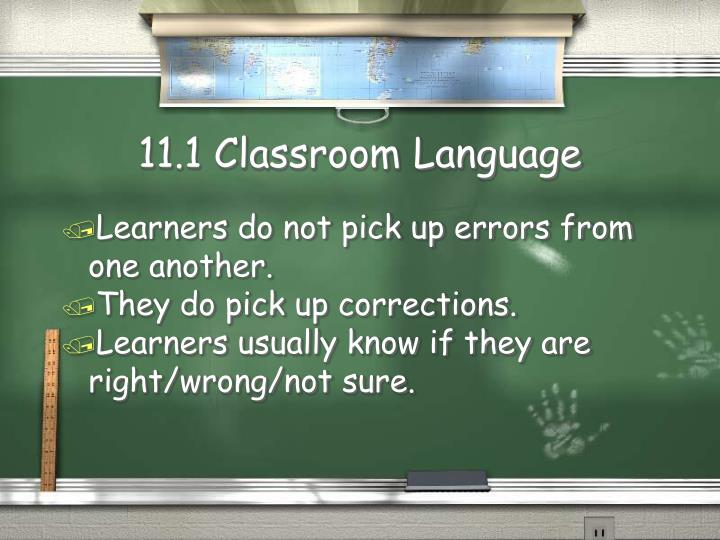 11 1 classroom language