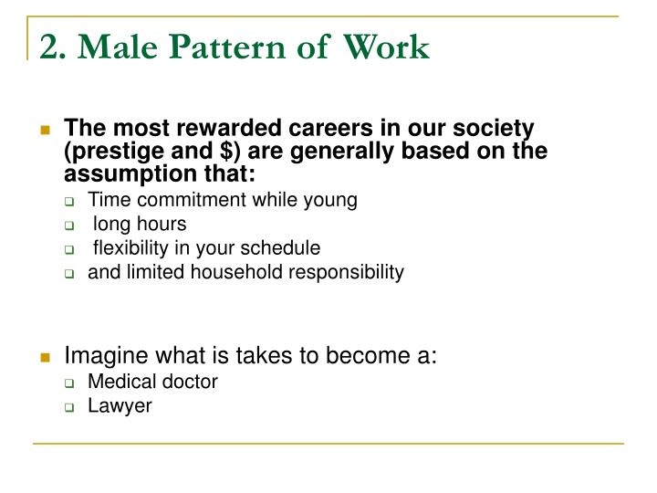 2. Male Pattern of Work