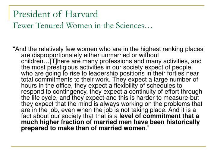President of Harvard