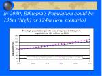 in 2030 ethiopia s population could be 135m high or 124m low scenario