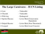 the large carnivores iucn listing