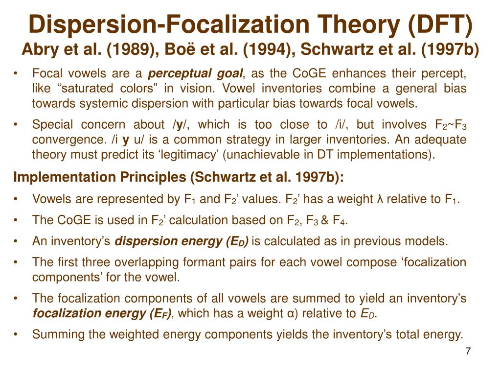 PPT - Predicting Vowel Inventories: The Dispersion