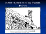 hitler s defiance of the western powers
