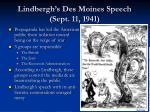 lindbergh s des moines speech sept 11 1941