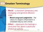 emotion terminology