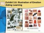 exhibit 5 8 illustration of emotion aiding learning