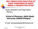 self medication practices of drug consumers in addis ababa a prospective study