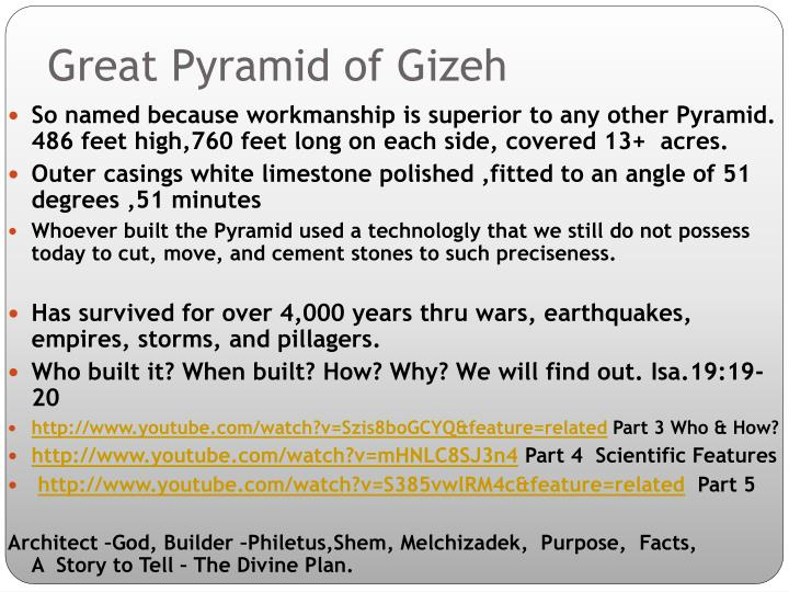 Great Pyramid of Gizeh