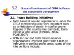 3 2 scope of involvement of crda in peace and sustainable development