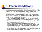 8 recommendations