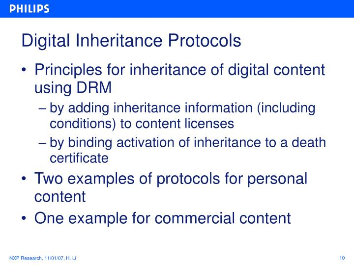 Digital Inheritance Protocols