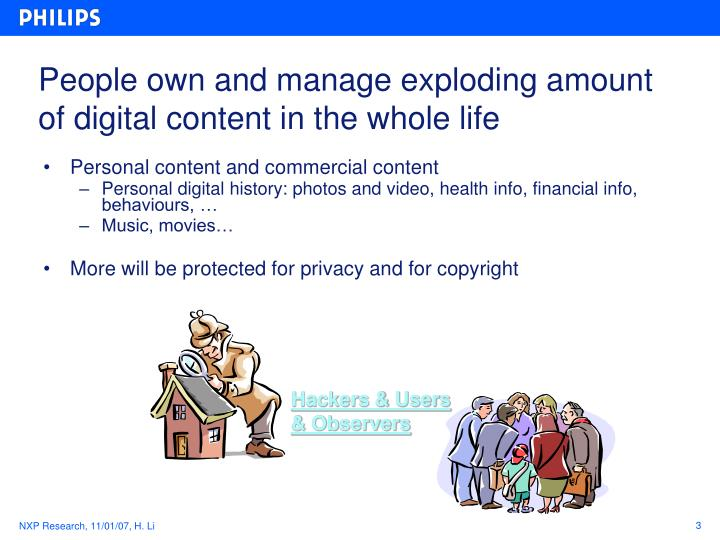 People own and manage exploding amount of digital content in the whole life