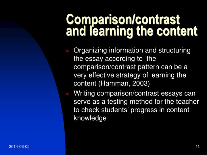 Comparison/contrast and learning the content