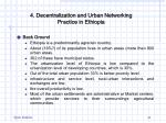 4 decentralization and urban networking practice in ethiopia