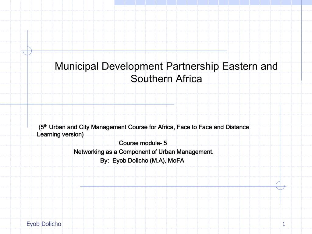 municipal development partnership eastern and southern africa l.