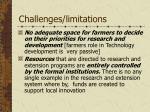 challenges limitations