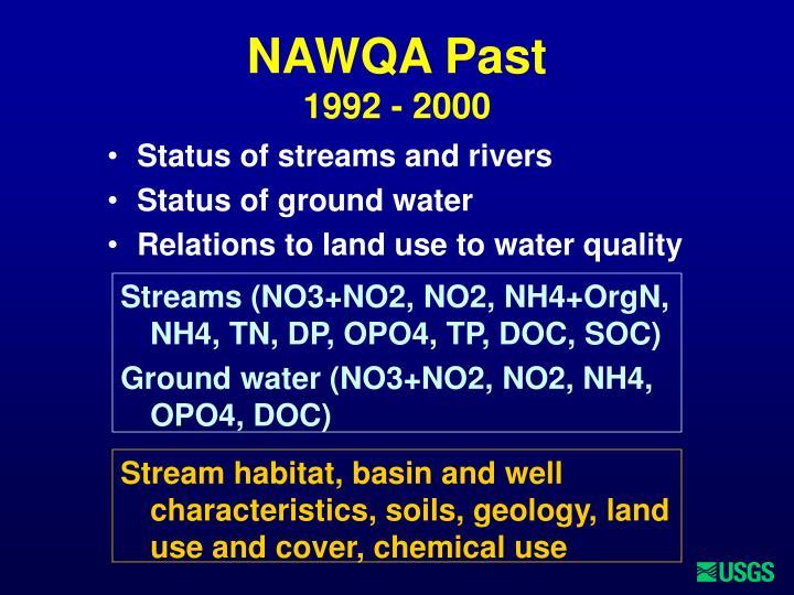 Nawqa past 1992 2000