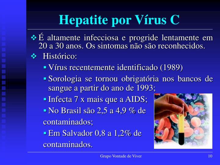 É altamente infecciosa e progride lentamente em 20 a 30 anos. Os sintomas não são reconhecidos.