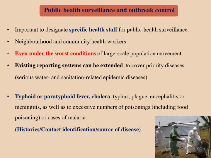 Public health surveillance and outbreak control