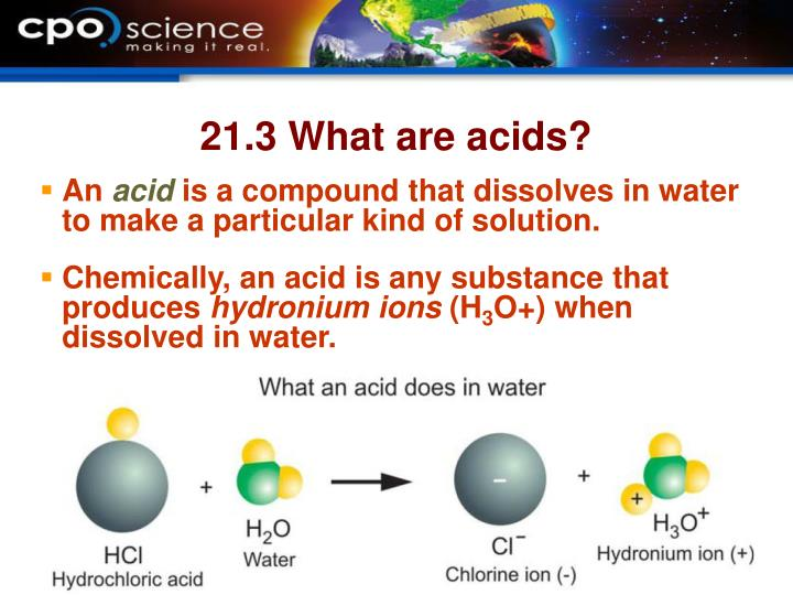 21.3 What are acids?