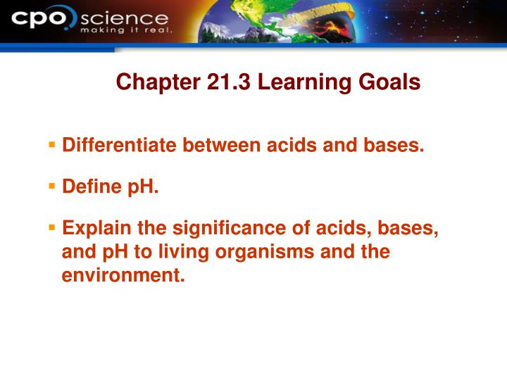 Chapter 21.3 Learning Goals