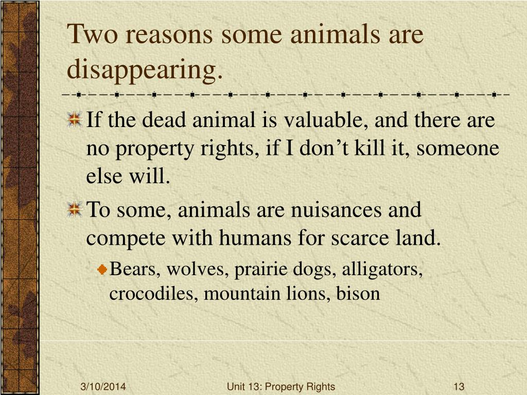 Two reasons some animals are disappearing.