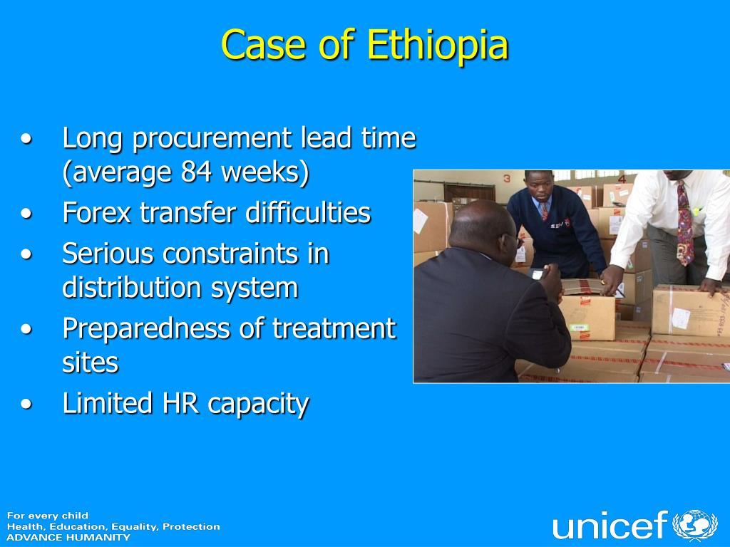 Case of Ethiopia