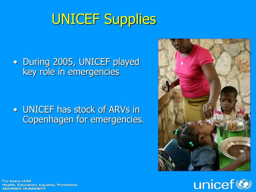 UNICEF Supplies