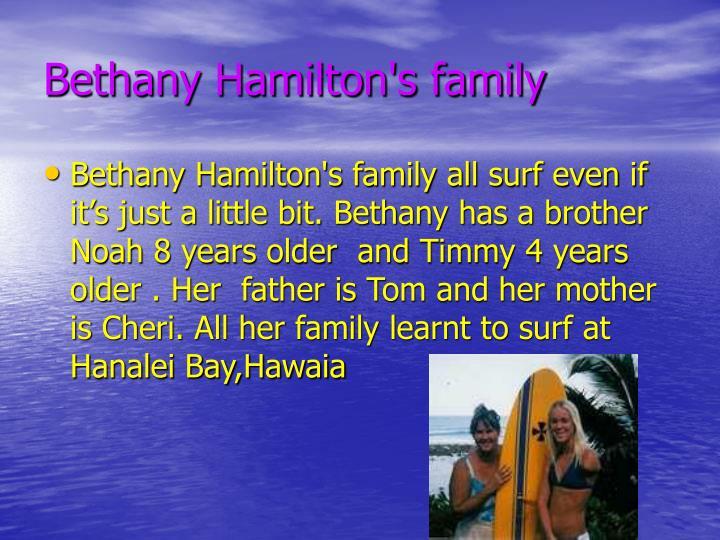 Bethany Hamilton's family