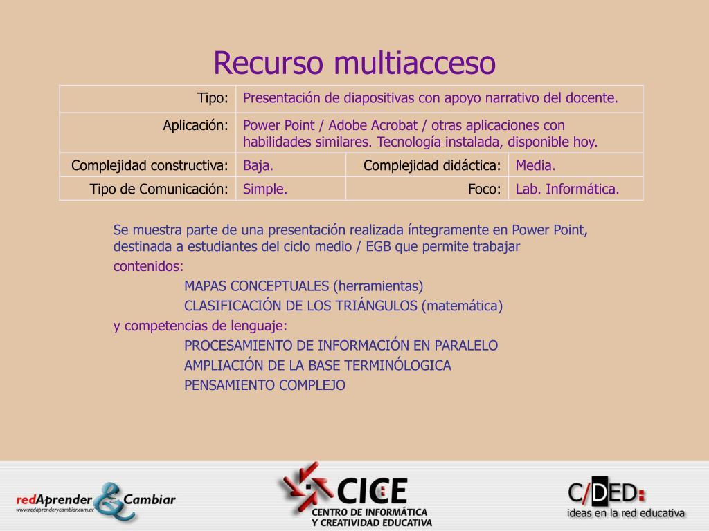 recurso multiacceso l.