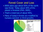 forest cover and loss
