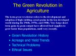 the green revolution in agriculture22