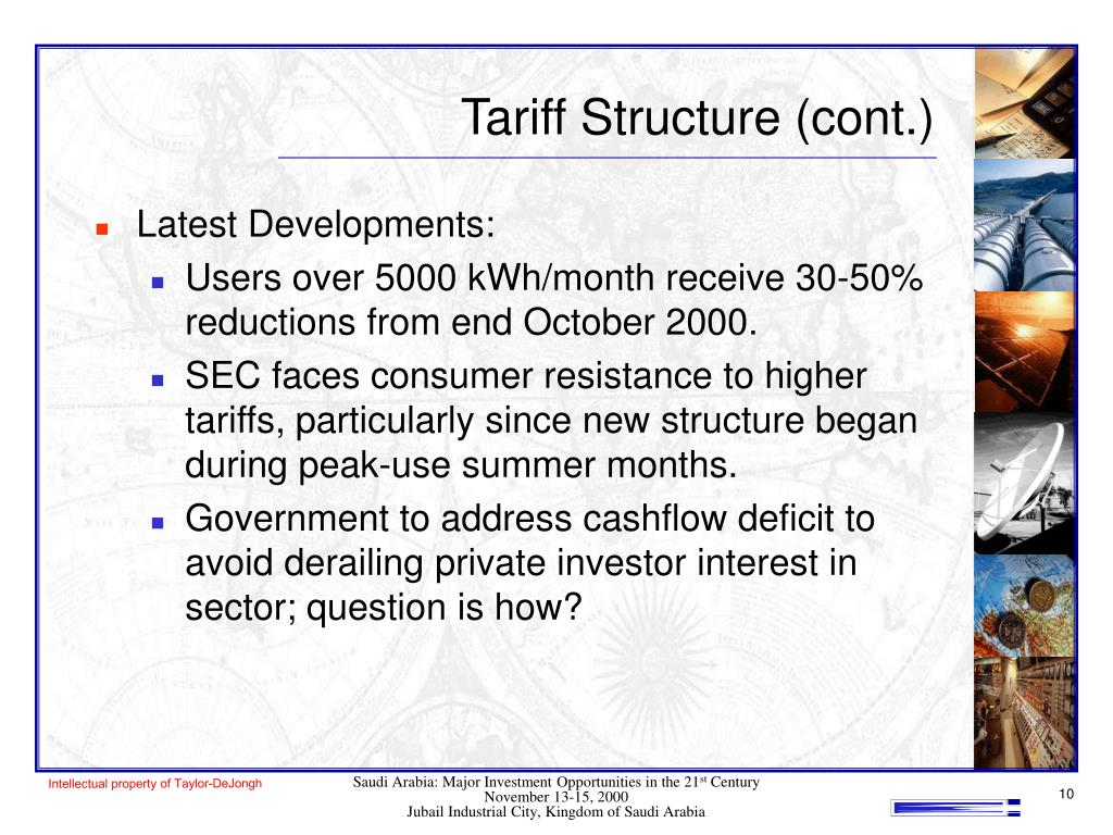 Tariff Structure (cont.)