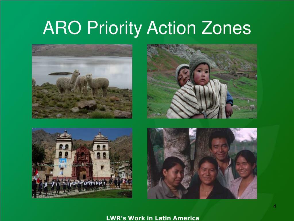ARO Priority Action Zones
