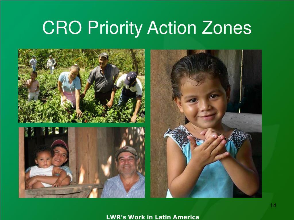 CRO Priority Action Zones