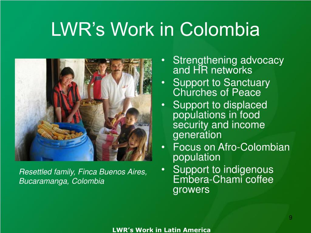LWR's Work in Colombia