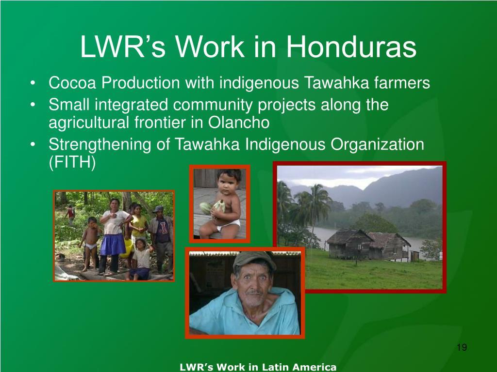 LWR's Work in Honduras