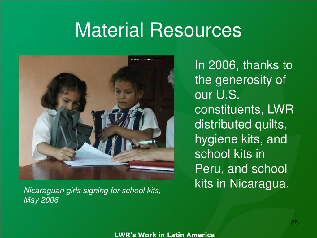 Material Resources