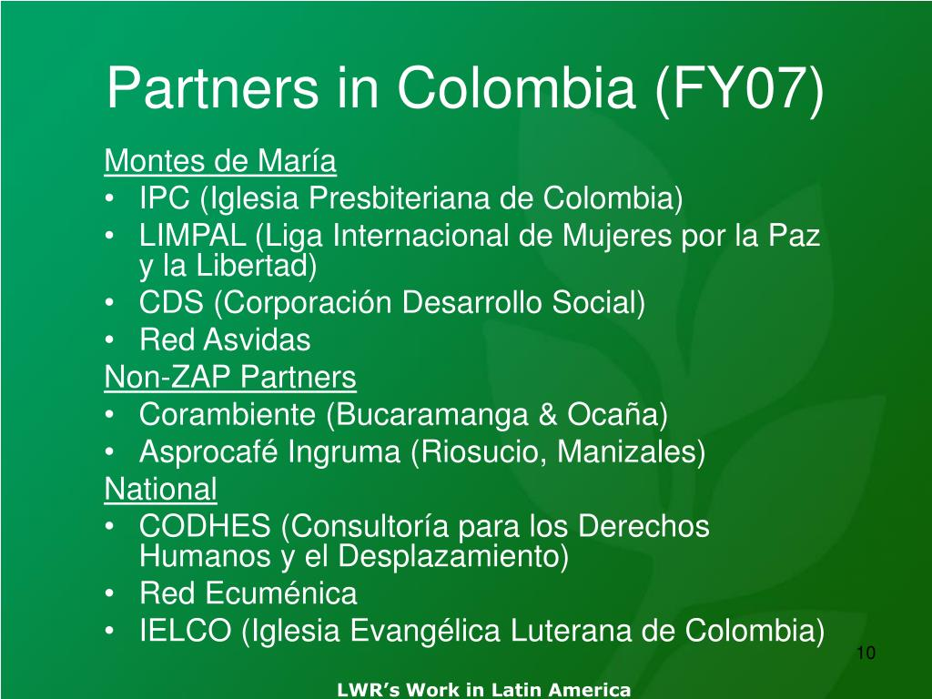 Partners in Colombia (FY07)