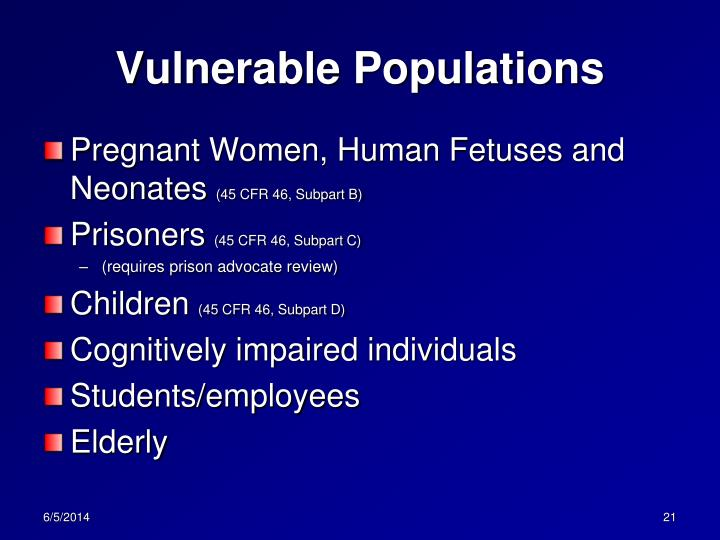 vulnerable population in the workplace essay  vulnerable population in the workplace _____ nur/440 4/15/13 carol dallred vulnerable population in the workplace nursing profession is a career with a vast field of different practices with different roles to choose from this variety makes the nursing field a vulnerable profession for mistakes if.