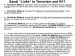 saudi links to terrorism and 9 115