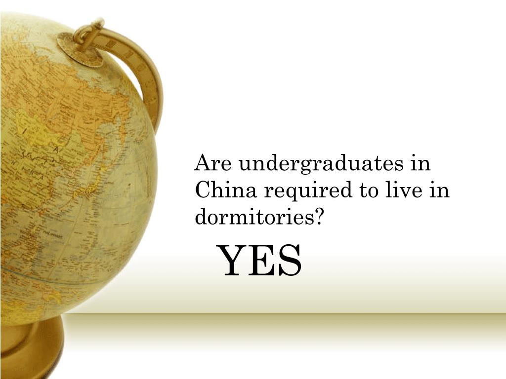 Are undergraduates in China required to live in dormitories?